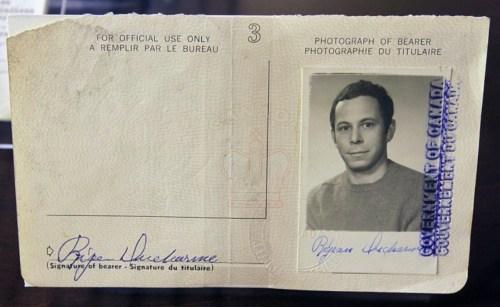 Passeport de Réjean Ducharme
