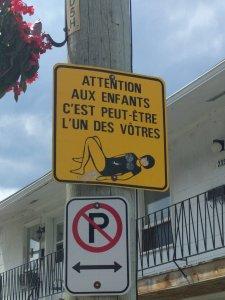 Panneau routier, Lévis (Québec), 2016