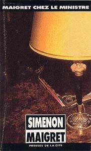 Georges Simenon, Maigret chez le ministre, couverture