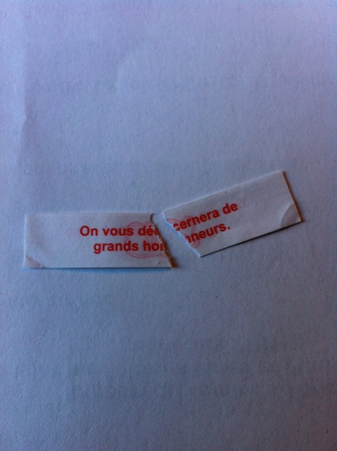 Les biscuits chinois disent toujours vrai