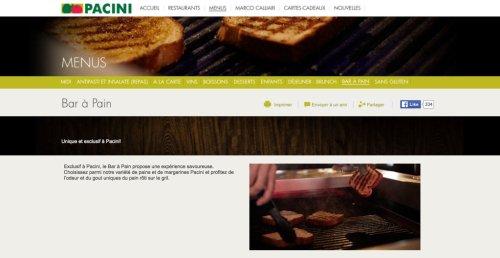 Bar à pain, restaurants Pacini