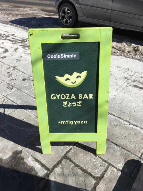 Bar à gyoza, rue Monkland, Montréal