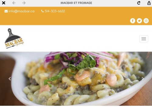 Bar à macaroni au fromage