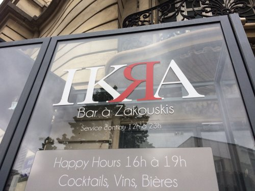 Bar à zakouskis, Paris sixième, juin 2020