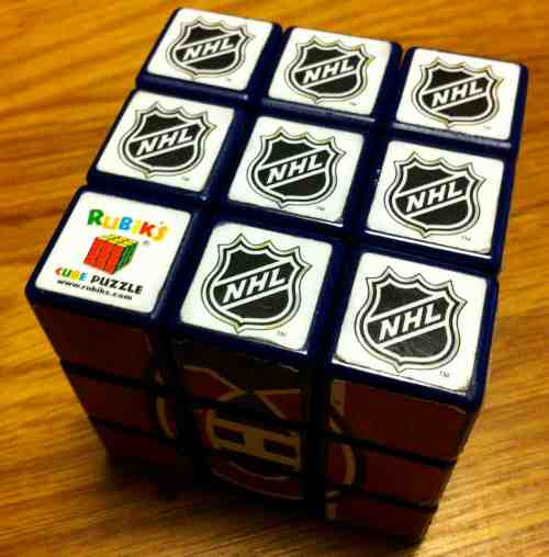 Le cube Rubik et la hockey