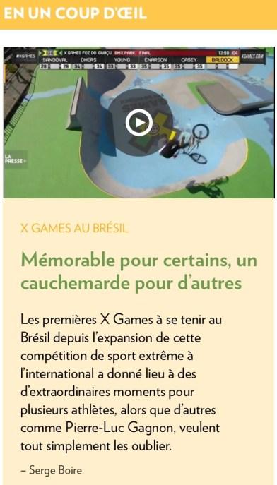 La Presse+, 22 avril 2013