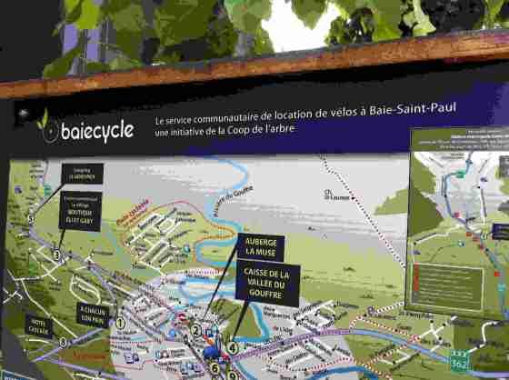 Location de vélo, Baie-Saint-Paul, août 2013