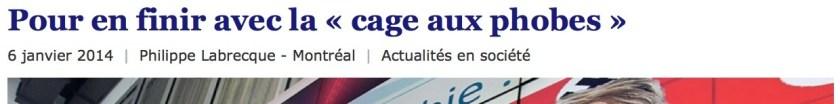 Le Devoir, 6 janvier 2014