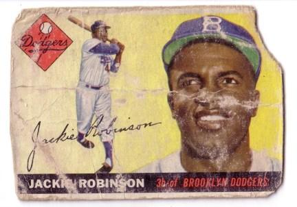 Carte de Jackie Robinson dans l'uniforme des Dodgers