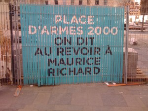 Place d'Armes, mai 2011, travaux de rénovation