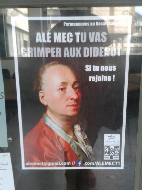 Affiche Diderot, Université François-Rabelais (Tours), 2014