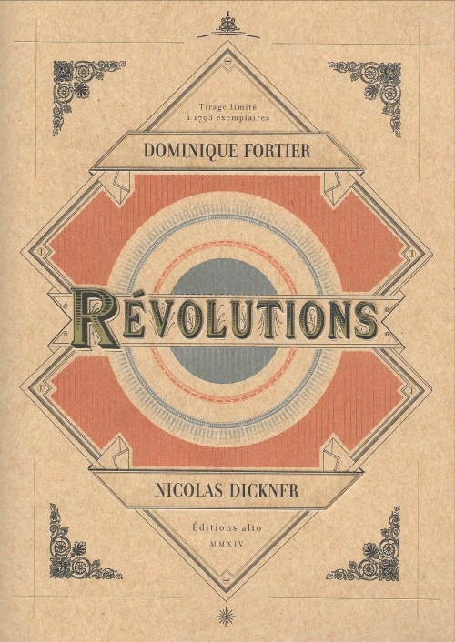 Dominique Fortier et Nicolas Dickner, Révolutions, 2014, couverture