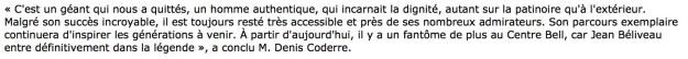 Denis Coderre et le fantôme de Jean Béliveau