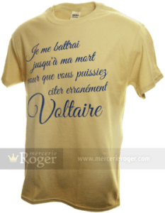 T-shirt voltairien