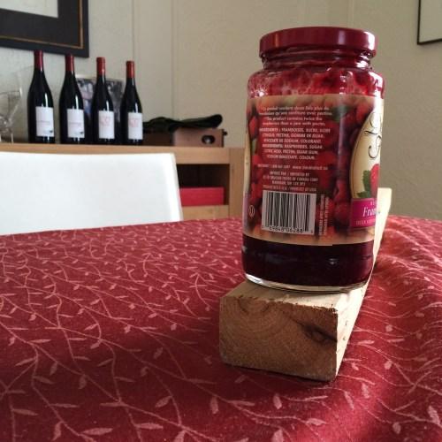 Confiture, vin, bois