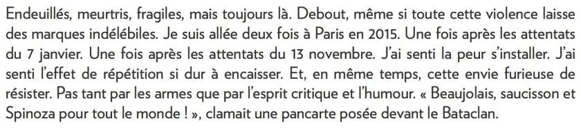 Rima Elkouri, la Presse+, 6 janvier 2016