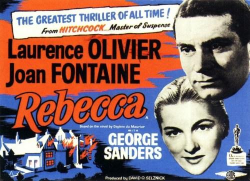 Alfred Hitchcock, Rebecca, affiche