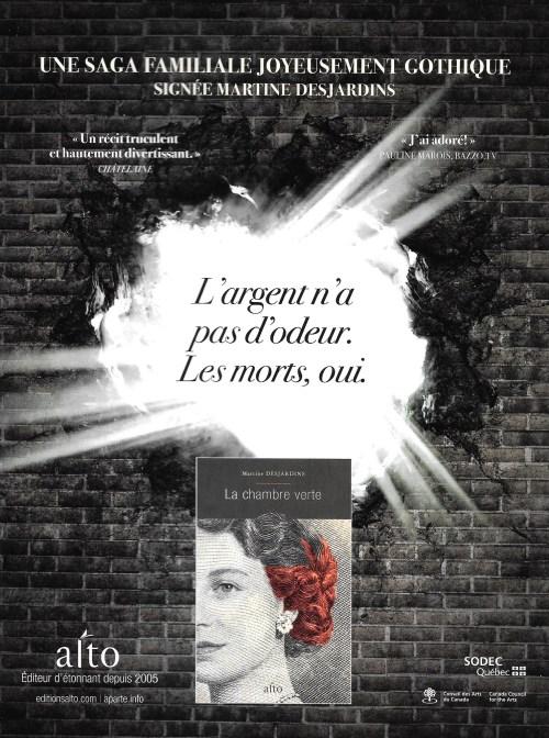 Publicité, Lettres québécoises, no 162, été 2016