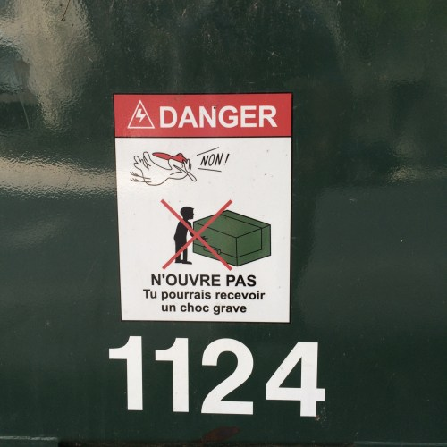 Panneau de signalisation, Westmount, août 2015