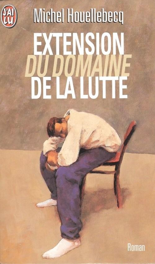 Michel Houellebecq, Extension du domaine de la lutte, édition de 1998, couverture