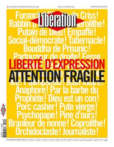 Libération, une du jeudi 15 janvier 2015