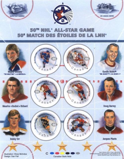 Série de timbres-poste, 50e édition du match des étoiles, 2000