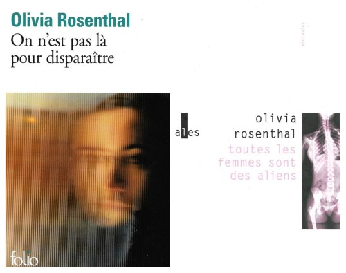 Olivia Rosenthal, couvertures