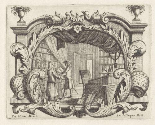 Intérieur d'une bibliothèque, XVIIIe siècle