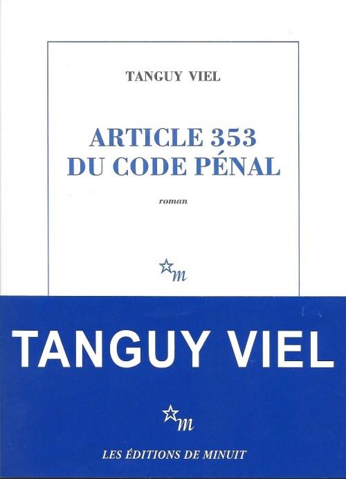 Tanguy Viel, Article 353 du code pénal, 2017, couverture
