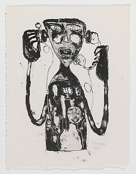 Jean Dubuffet, «Le supplice du téléphone», 1944, Metropolitan Museum of Art
