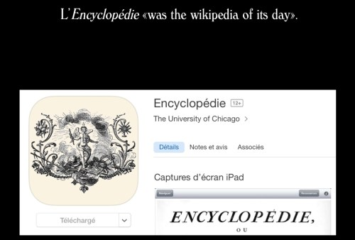 Application Encyclopédie pour tablette