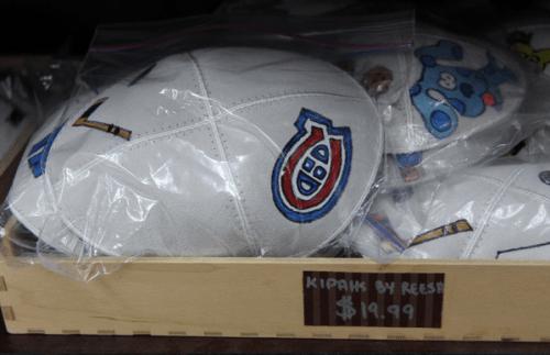 Kippa aux couleurs des Canadiens de Montréal
