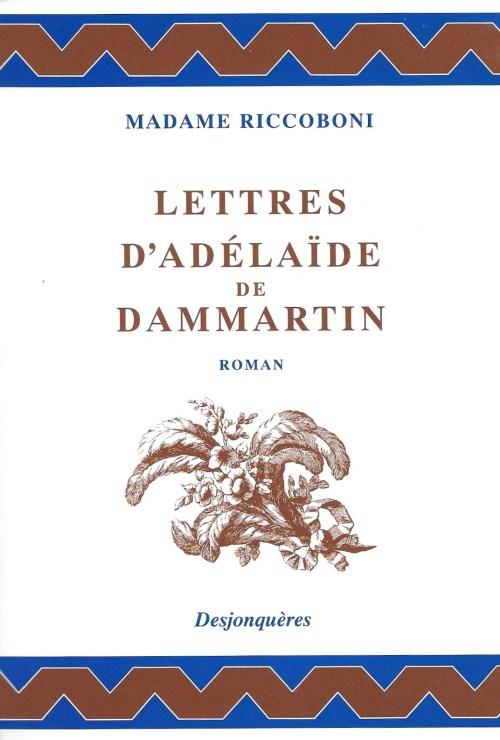 Mme Riccoboni, Lettres d'Adélaïde de Dammartin, éd. de 2005, couverture