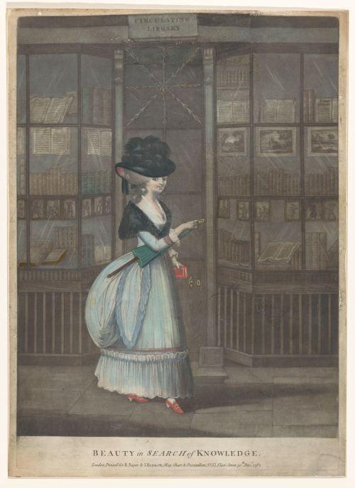 «La beauté à la recherche du savoir», gravure de John Raphael Smith, Londres, 1782