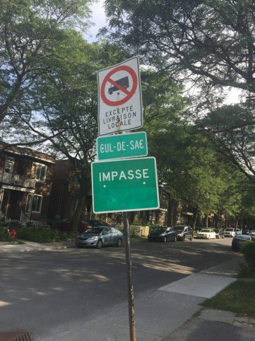 Impasse et cul-de-sac, rue Dalou, Montréal