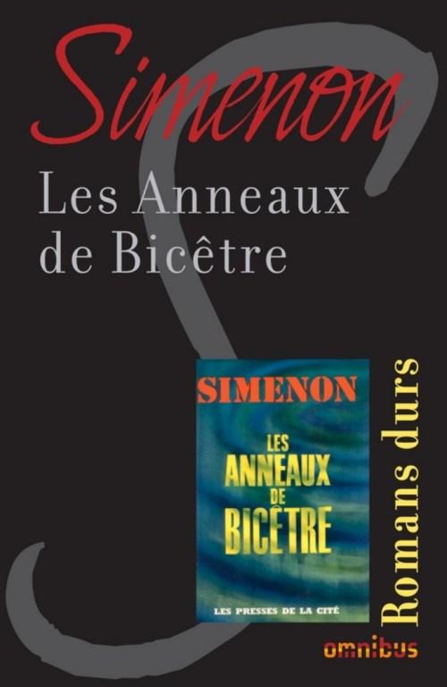 Simenon, les Anneaux de Bicêtre, 1963, couverture