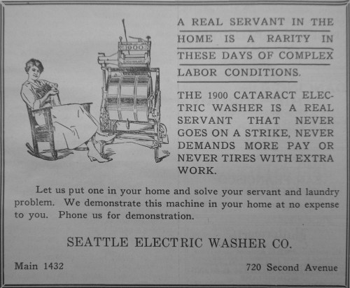 Seattle Electric Washer Co., The Argus (Seattle), 24 avril 1920, p. 6