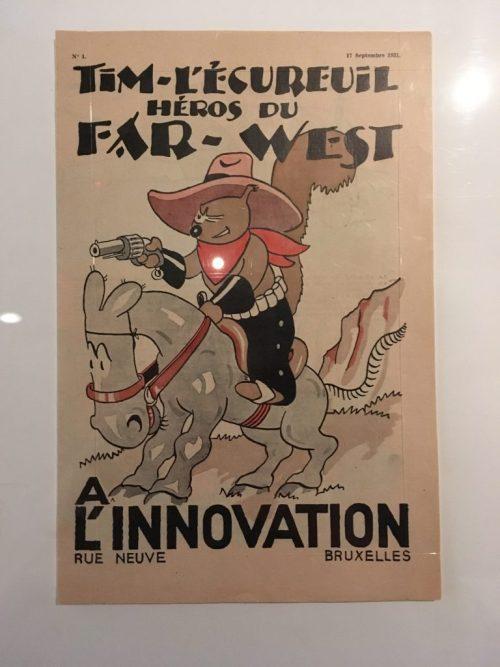 «Tim-l'écureuil héros du far-west», 1931, couverture
