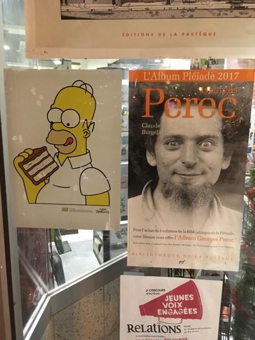 Les Simpsons et Georges Perec, affiches, Québec, janvier 2018