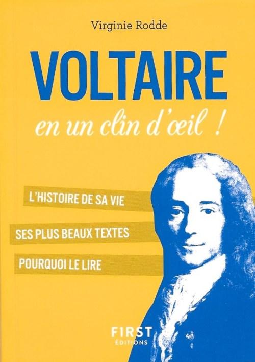 Virginie Rodde, Voltaire en un clin d'œil !, 2018, couverture