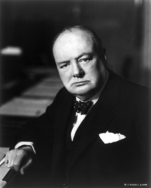 Portrait de Winston Churchill en 1941