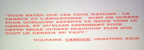 Denis Héroux, Quelques arpents de neige, film, 1972, épigraphe