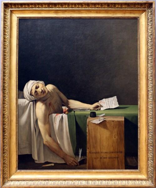 Jacques-Louis David, «La mort de Marat», tableau, 1793