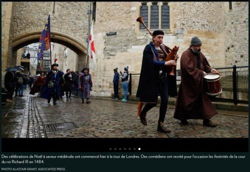 «À saveur médiévale», la Presse+, 28 décembre 2017