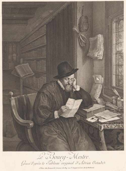 «Le bourg-mestre», gravure de Jacques Beauvarlet