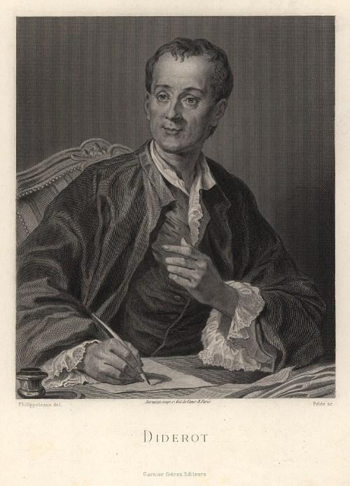 Portrait de Diderot par Pelée, XIXe siècle