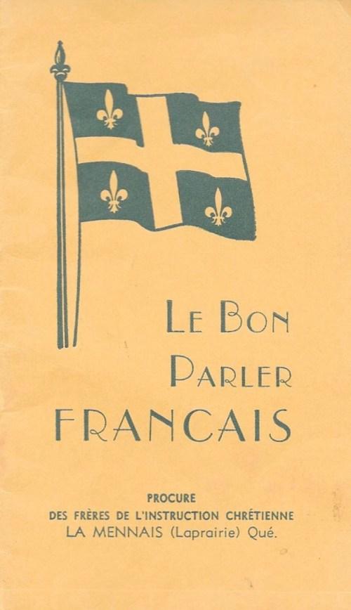 :e Bon Parler français, 1937, couverture