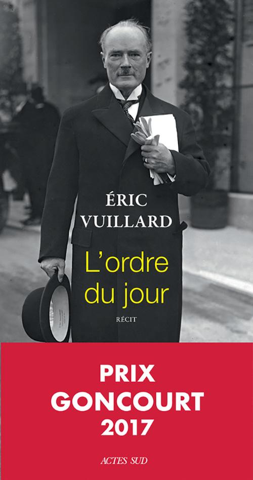 Éric Vuillard, l'Ordre du jour, 2017, couverture