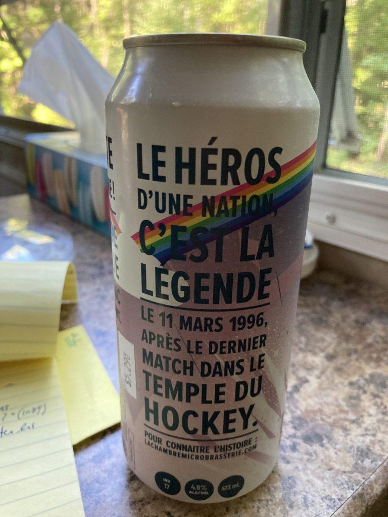 Bière La Légende (Maurice Richard