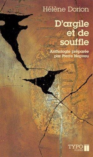 Hélène Dorion, D'argile et de souffle, 2002, couverture